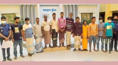 ময়মনসিংহে সাজাপ্রাপ্ত পলাতকসহ ১৩ জনকে গ্রেফতার করেছে পুলিশ