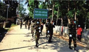 সাদুল্লাপুরে মানুষদের চিকিৎসা সেবা প্রদানে কাজ করছে সেনাবাহিনী