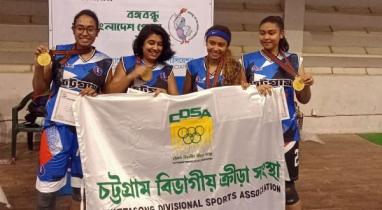 চট্টগ্রাম বিভাগীয় নারী বাস্কেটবল দল স্বর্ণ জয় করেছে
