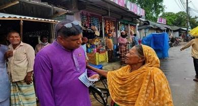 প্রচার প্রচারণায় জমে উঠেছে সেতাবগঞ্জ পৌরসভা নির্বাচন